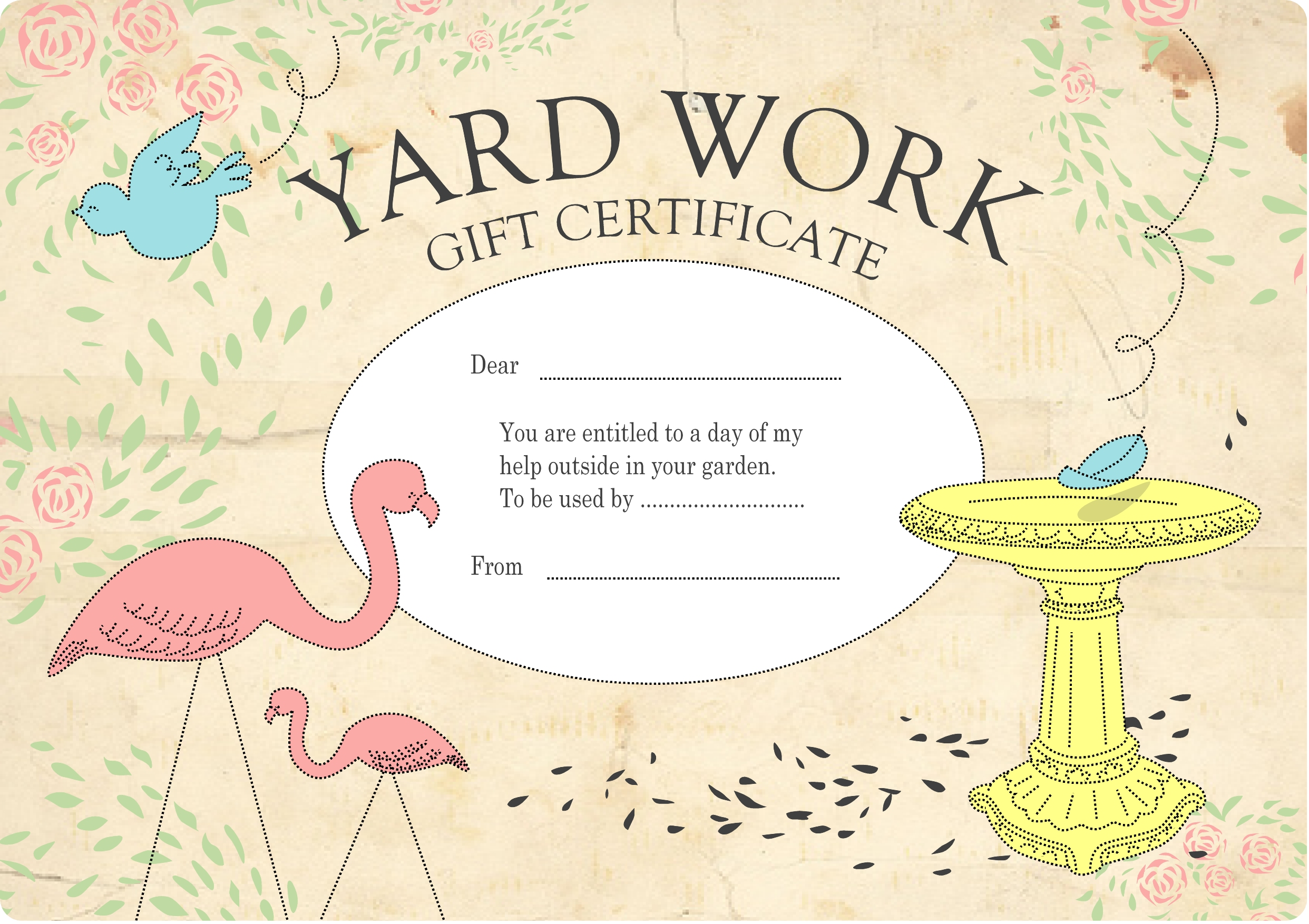 printable homemade gift certificates