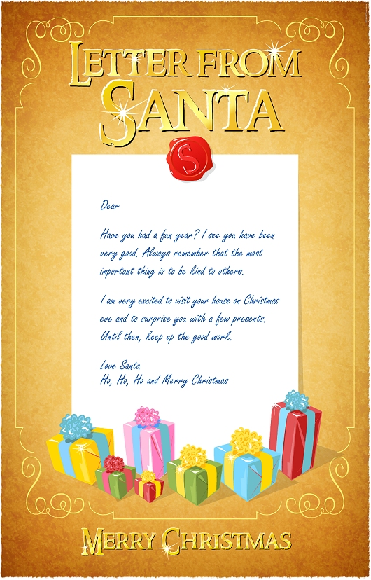 Letter from Santa, free to download Christmas printable