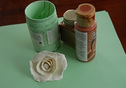 How to revamp an old wrought iron mirror - make rose from clay