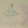Free textures and background patterns, Ballet girl illustration on side of jewelry box